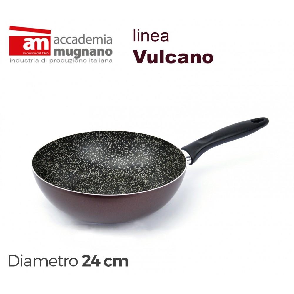 VUSLT24 Padella saltapasta antiaderente Accademia Mugnano linea Vulcano 24cm