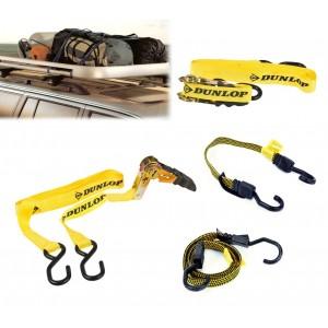 41856 Set imbracatura per auto 6 pezzi Dunlop cinghie elastiche per bagagli