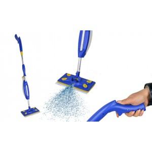 Scopa spray lavapavimenti 2 in 1 igienizzante manuale con panno lavabile in microfibra