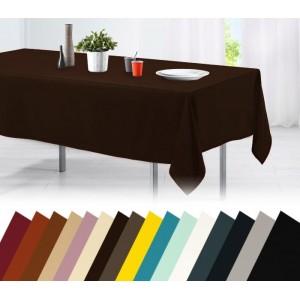Tovaglia da tavola in cotone vari colori tinta unita orlo decorato