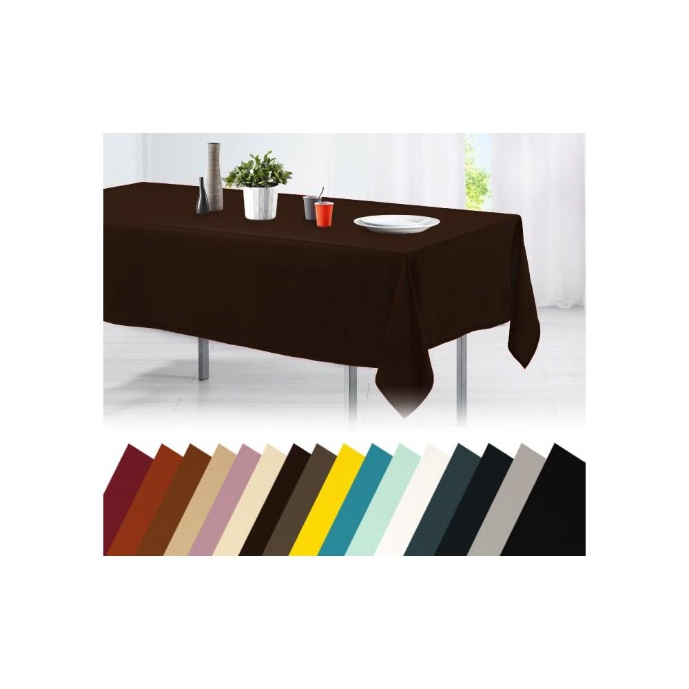 Tovaglia da tavola in cotone 150 x 200 cm vari colori tinta unita orlo decorato