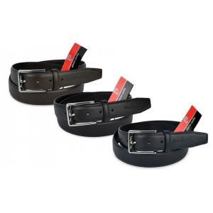 P501 Cintura uomo Pierre Cardin in vera pelle saffiano vari colori