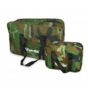 2507 Set due borse termiche FREE-GO fantasia militare 14 lt + 3 lt doppio manico