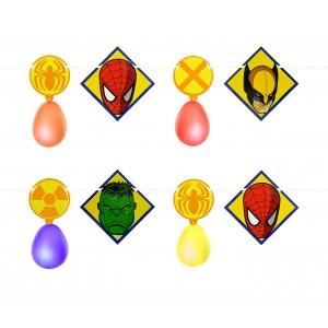 PB 439 Festone supereroi Marvel 2,8 m con palloncini decorazioni feste bambini