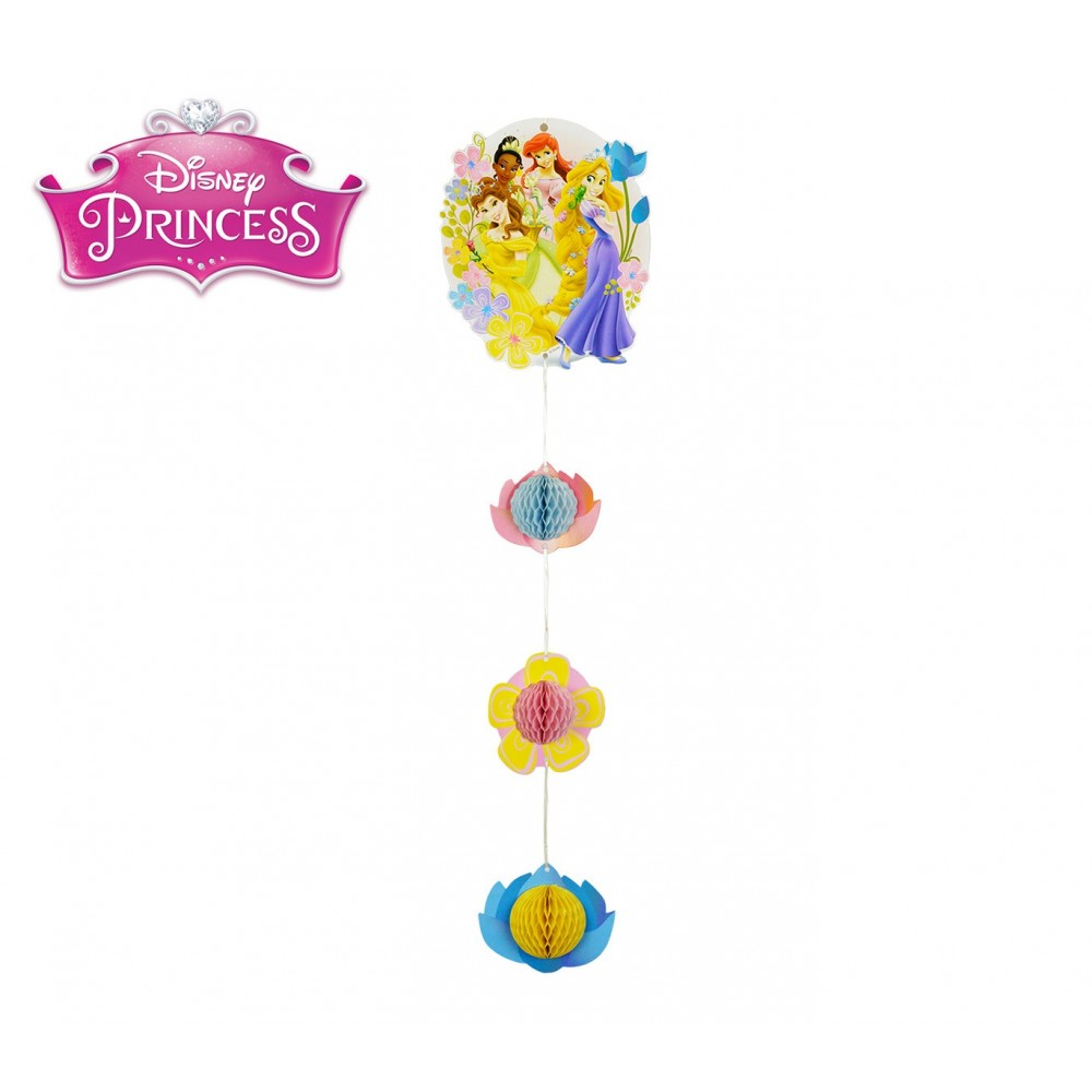 PB952 Pack 2 festoni Principesse Disney decorazione per feste in carta  60 cm