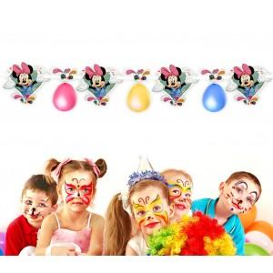 PB438 Festone Minnie decorazione per feste in carta 1.80 m ghirlanda Disney