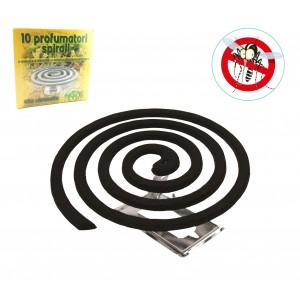2216AN Kit 10 profumatori a spirale zampirone contro zanzare e altri insetti
