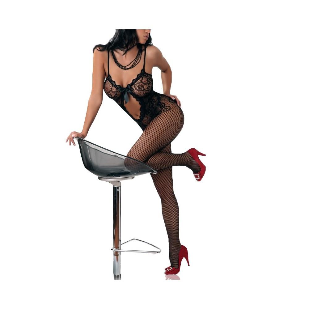 Tuta in rete ricamata catsuit mod. Melanie collezione Feeling Good by Mws Ahead