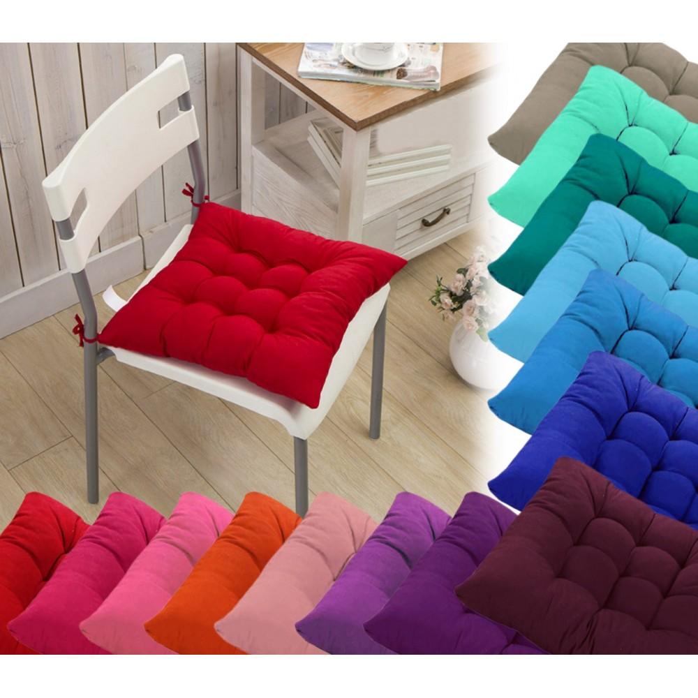Set 4 cuscini per sedia modello Lorelai 40x40cm vari colori trapuntato