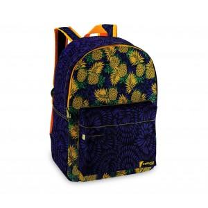 Zaino a spalla modello Fruit tropical tasca frontale 43x33x13 cm
