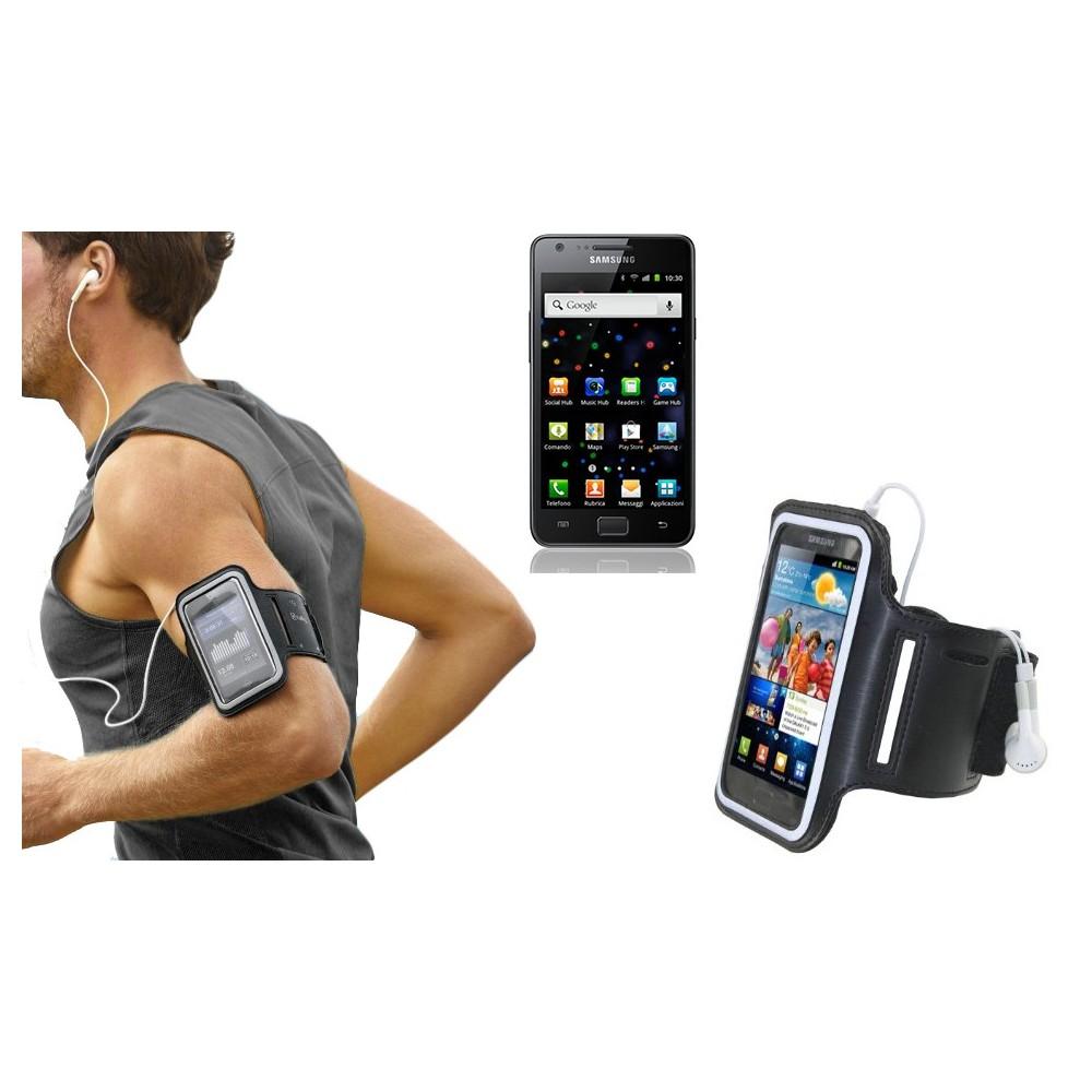Fascia da braccio sportiva compatibile Samsung i9100 schermo tattile