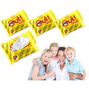 Pack 15 salviettine antizanzare  imbevute alla citronella