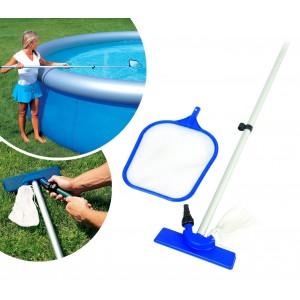 58013 Kit di pulizia standard Bestway per piscina fuori terra asta e setaccio