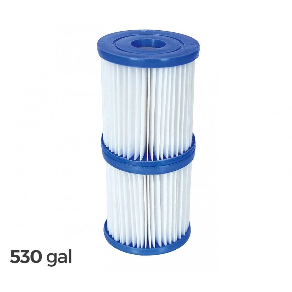 58094 Kit 2 filtri di ricambio Bestway 2006/3028LT/H motore piscina 530 galloni