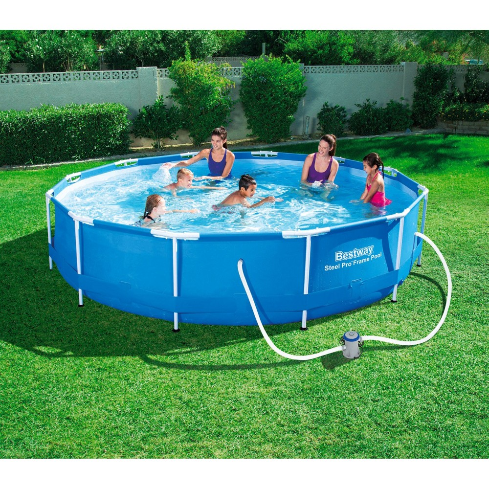 56416 piscina tonda fuori terra strutturata con motore