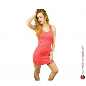 Image of Vestitino mod. Riverside canotta lunga vestito donna long shirt estate elasticizzato 8048785478524