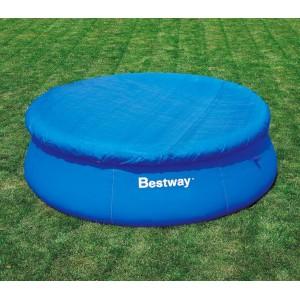 58033 Copertura per piscina fuori terra tonda 355 cm Bestway telo in pvc