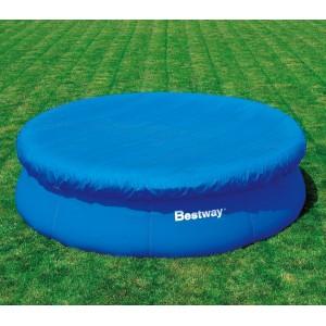 58034 Copertura per piscina fuori terra tonda 380 cm Bestway telo in PE