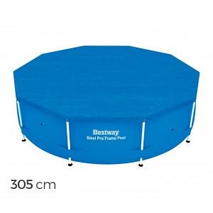 58036 Copertura per piscina fuori terra tonda 305 cm Bestway telo in PVC