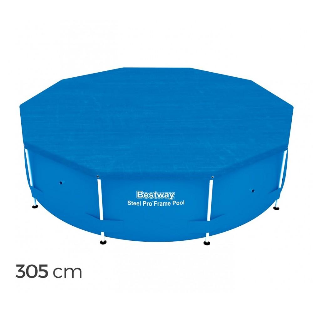 58036 Copertura per piscina fuori terra 305 cm Bestway telo in polietilene