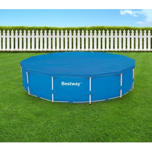 58037 Copertura per piscina fuori terra tonda 366 cm Bestway telo in PVC