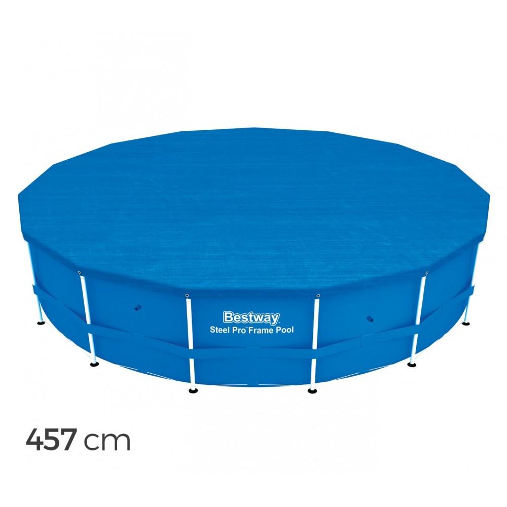 58038 Copertura per piscina fuori terra tonda 457 cm Bestway telo in PE