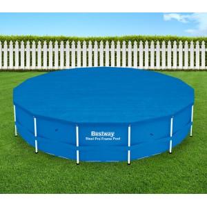 58038 Copertura per piscina fuori terra tonda 457 cm Bestway telo in PVC