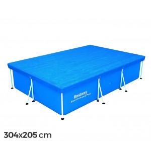 58106 Copertura piscina fuori terra rettangolare 304x205 cm Bestway telo in PVC