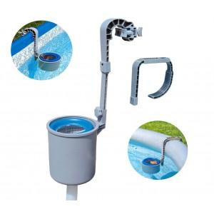 Image of 58233 Skimmer pulizia superficie piscina fuori terra Bestway con gancio e tubo 8000148487796