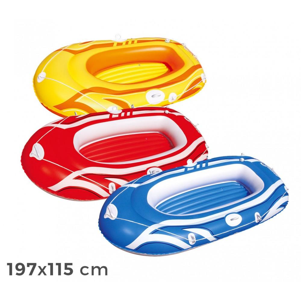 61052 Canotto gonfiabile Bestway  in 3 colori 197 x 115 cm per bambini e adulti