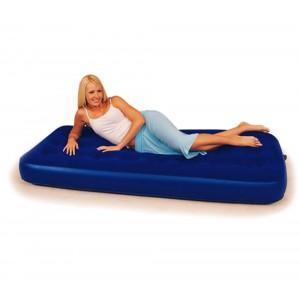 67000  Materassino singolo gonfiabile Bestway floccato blu 185 x 76 cm