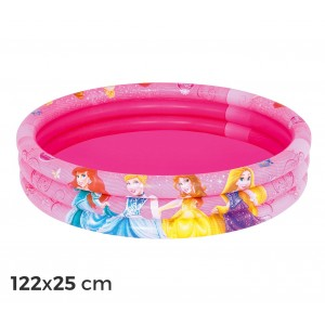 91047 Piscina gonfiabile principesse Disney 122x25 cm tre anelli rosa