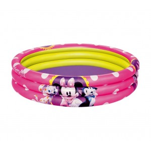 91066 Piscina gonfiabile Minnie 152 x 30 cm tre anelli rosa Bestway