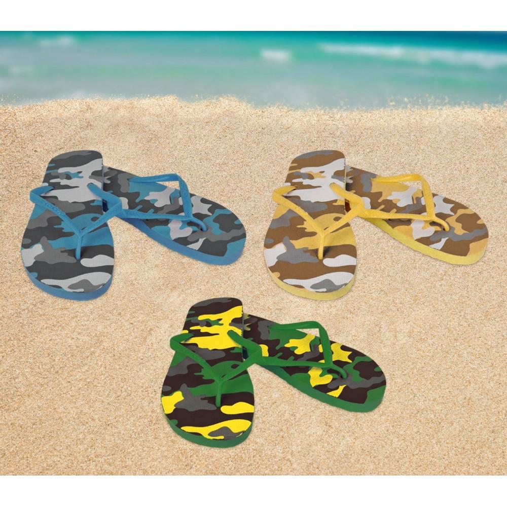 2073 Ciabatte infradito uomo fantasia militare 3 colori pantofole mare in gomma