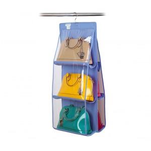 Organizzatore fino a 12 borse con gancio pratico organizer da armadio o porta