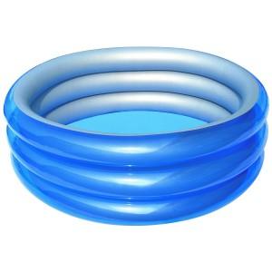51041 Piscina gonfiabile Bestway 3 anelli 150 x 53 cm metallica azzurra