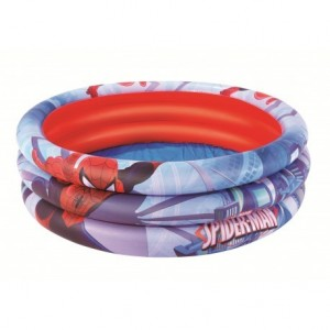98018 Piscina gonfiabile Spiderman 122 x 30 cm Bestway 3 anelli per bambini