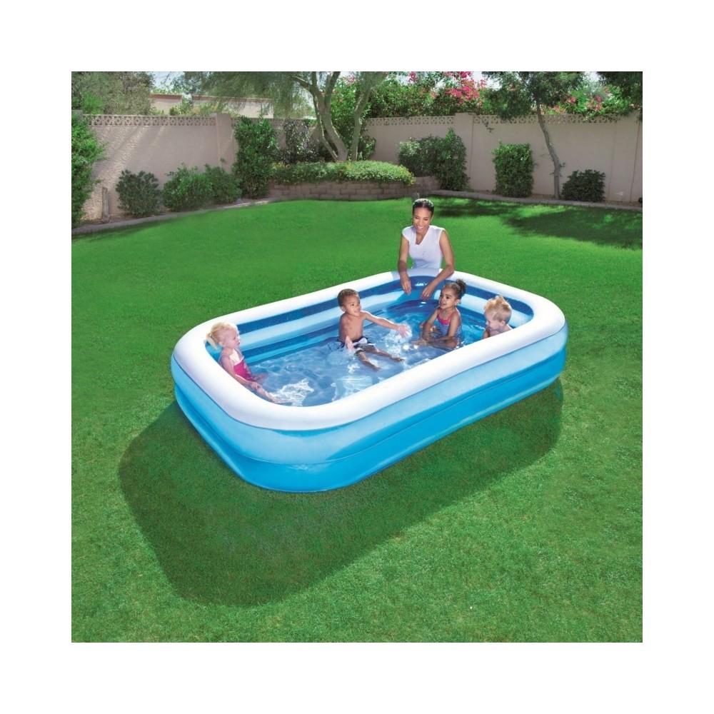 54006 piscina gonfiabile rettangolare bestway 262x175x51 cm in vinile - Piscina gonfiabile adulti ...