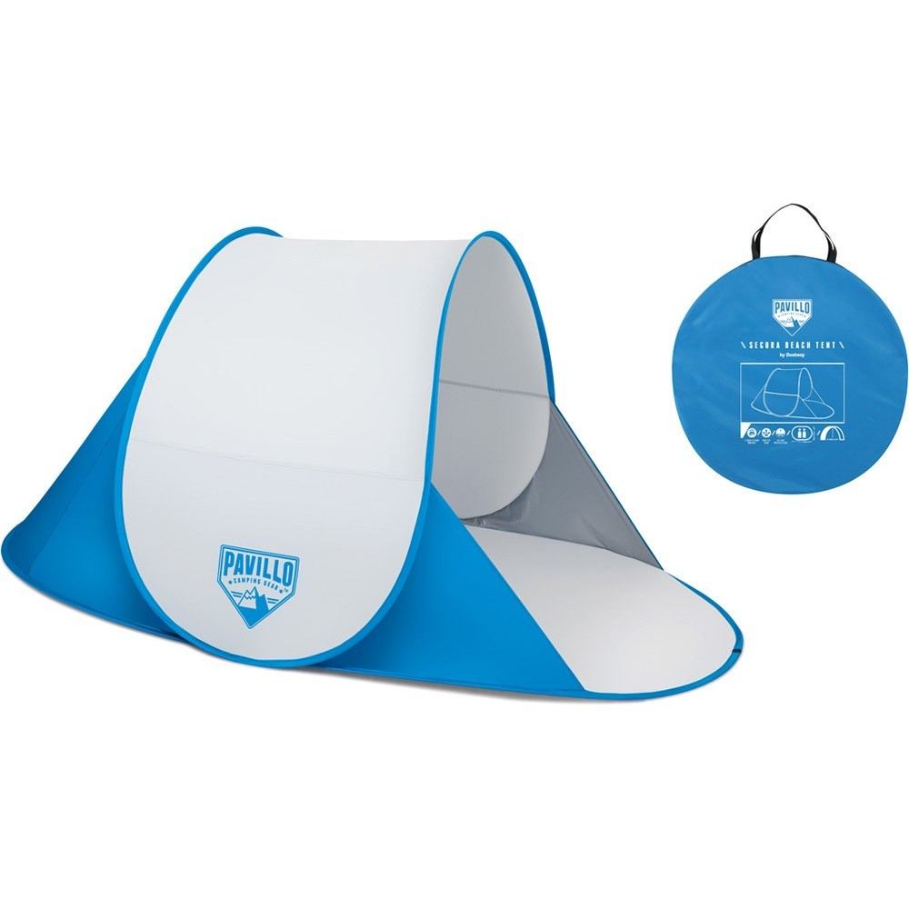 68045 Bestway Secura tenda pop up 2 posti parasole da spiaggia