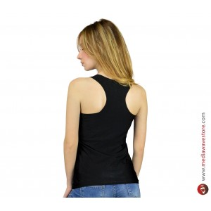 Canottiera lunga donna con stampa Regina di Poker in stile Dark Punk  MWS AHEAD moda estate