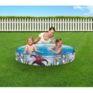 Image of 98010 Piscina rigida tonda Bestway Spiderman 152 x 25 cm azzurra 8001478784616