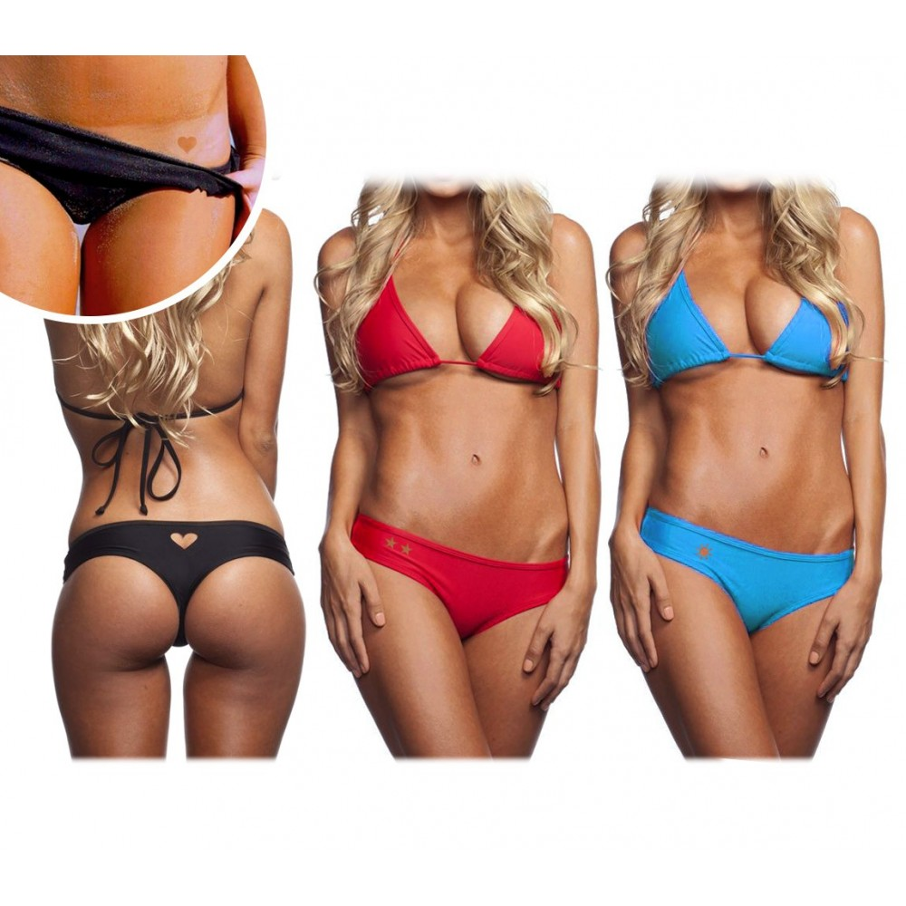 Slip bikini modello Sunhole Tattoo by MWS AHEAD vari tatuaggi