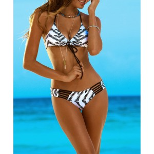 Bikini donna modello Kamala stile optical e fantasia etnica