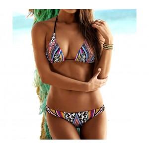 Costume bikini triangolo modello Anouk fantasia etnica imbottitura removibile