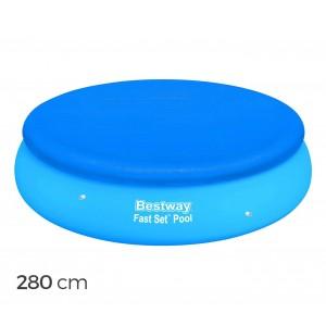 58032 Copertura per piscina fuori terra tonda 280 cm Bestway telo in PE