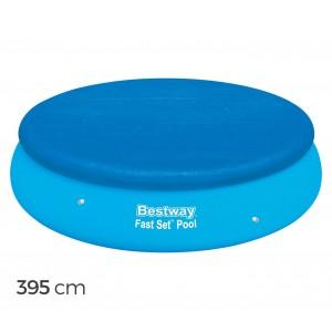 58034 Copertura per piscina fuori terra tonda 395 cm Bestway telo in PE