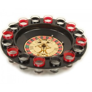 793988 Roulette alcolica con bicchierini in vetro inclusi drinking game