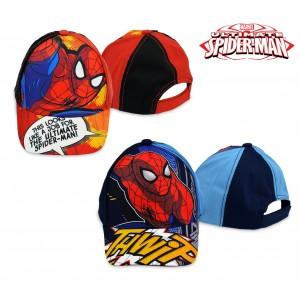 MV92263 Berretto per bambini Spiderman regolabile e con visiera parasole