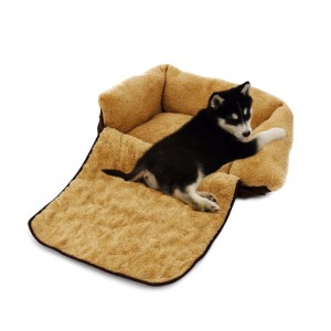 Poltroncina allungabile cani doppia funzione cuccia morbida 82*46*18