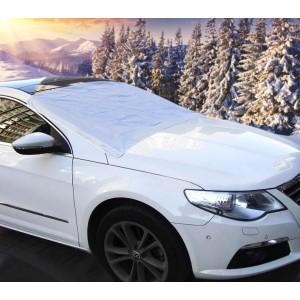 2269 Telo copriparabrezza grigio con laccetti per il fissaggio anti neve o sole